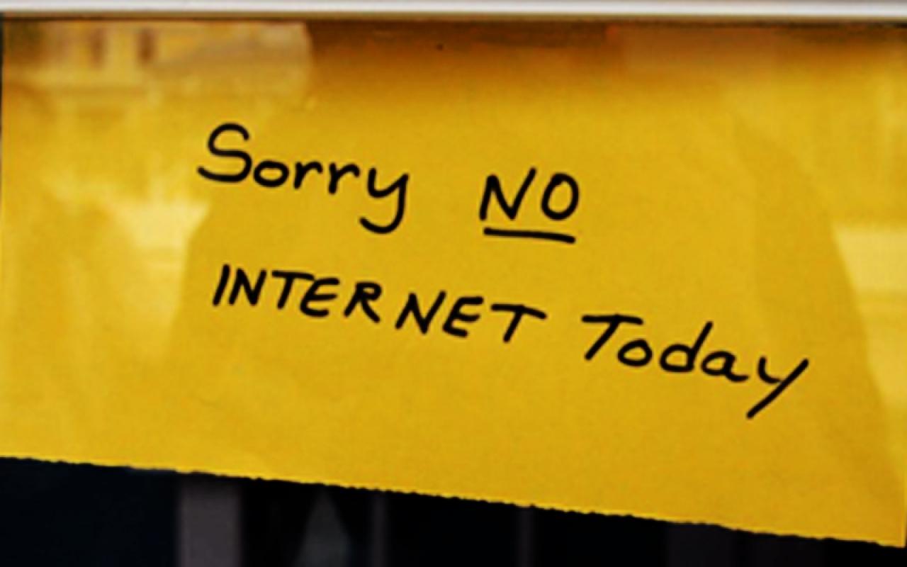 متاسفیم، امروز اینترنت نداریم!